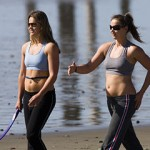 girls-walking-fast-pace-at-beach